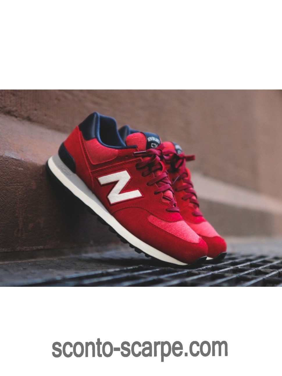 New Balance 574 Pennant Collection Boston rosse Bianche Marina Militare Blu a Prezzo Ridotto