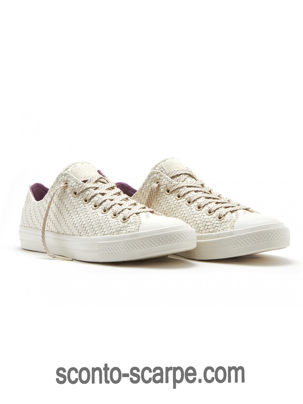 Converse Easter Chuck Taylor Low Woven Beige Purpureo Gialle Elenco Sconti
