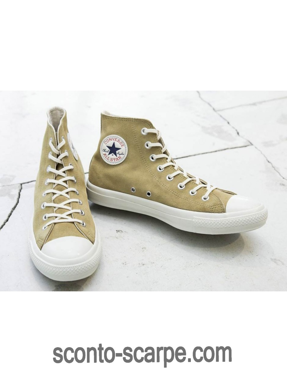 Converse Chuck Taylor Hi Beauty and Youth X Scamosciato Beige Con Consegna Rapida