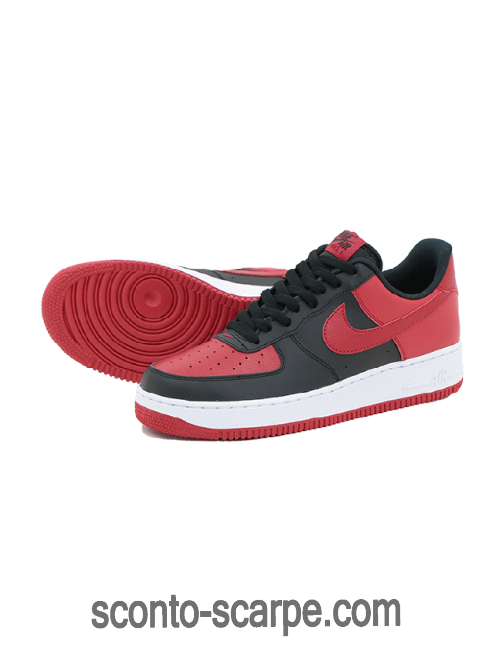 Nike Air Force 1 Low J-Pack Nere/Palestra rosse-Bianche 820266-009 Con Nizza Modello