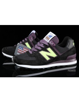 New Balance 574 Connoisseur Painters Nere Purpureo Lime Verde Con Qualità Certa