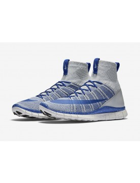 Nike Free Flyknit Mercurial Superfly Lupo Grigie/Game Royal Blu-Nere-Varsity Maize Gialle-Bianche 805554-003 Con Spedizione Rapida