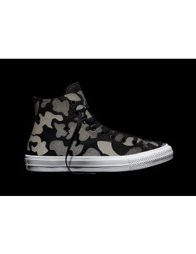 Converse Chuck II Reflective Stampare Heritage Camouflage Stampare Tela High Nere Grigie Le Vendite Up 56%