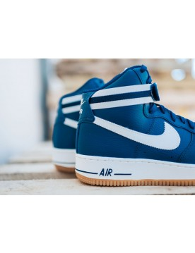 Nike Air Force 1 High 07 Coastal Blu/Slate Grigie-Gomma Marrone Chiaro-Lupo Grigie 315121-410 Con Nice Price