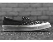 Converse Deck Star Slip-On May Fiore Tela Nere Con lAlto Qulity